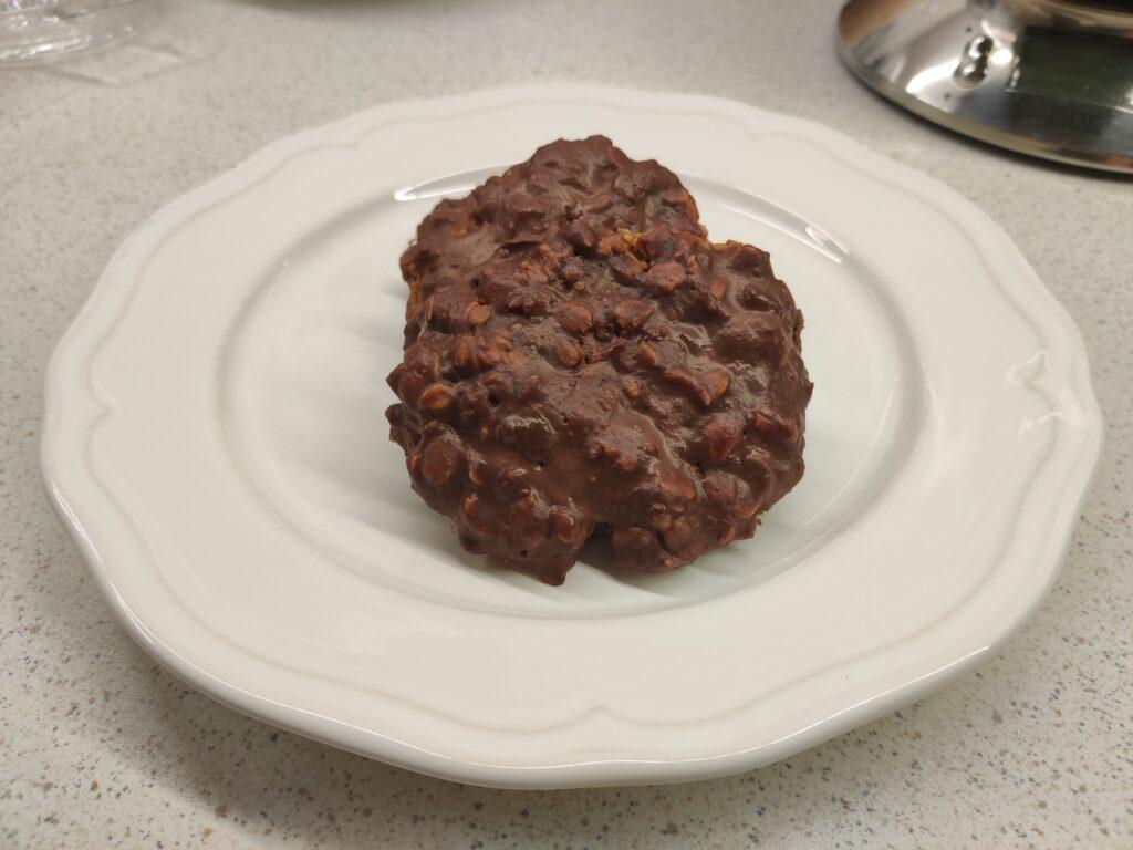 Ciasteczka owsiane z polewą czekoladową